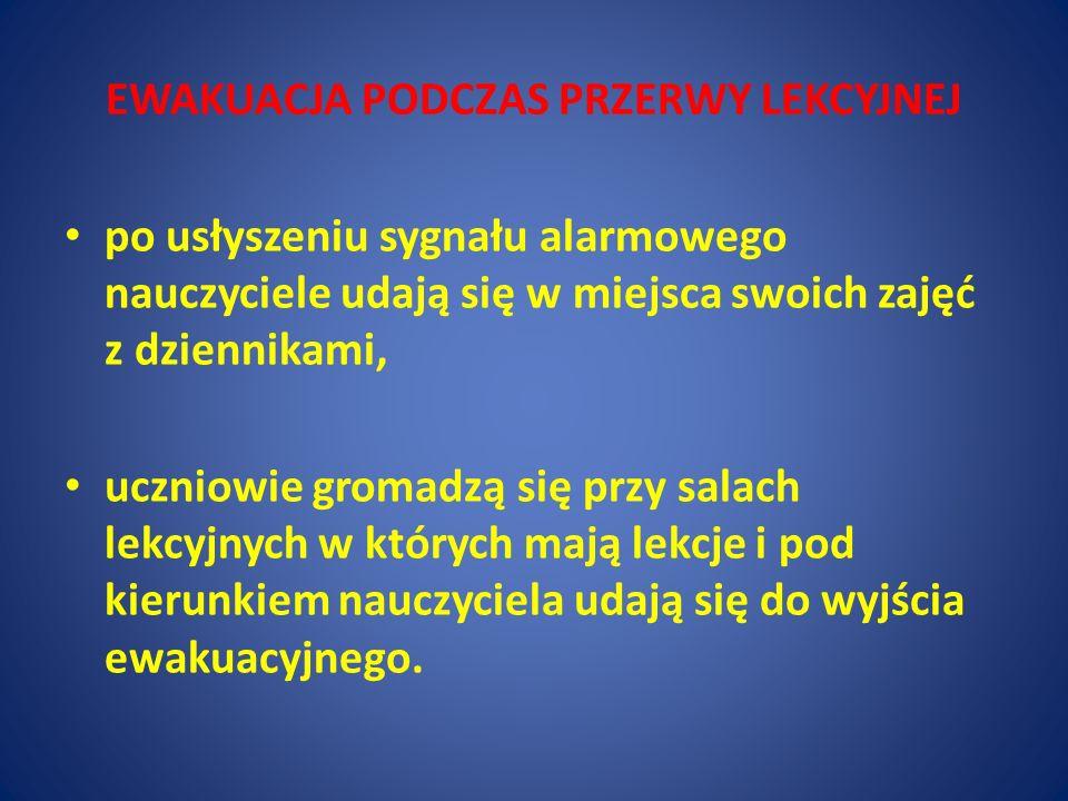 w przypadku braku energii elektrycznej alarm ewakuacyjny ogłasza się przy użyciu dzwonka ręcznego (ewentualnie przy pomocy ręcznej syreny alarmowej) uzupełnionego przez informację głosową UWAGA!!.
