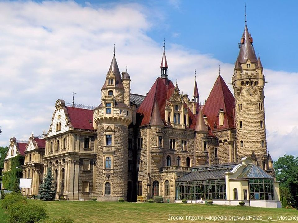 The Moszna Castle is a historic castle in a small village of Moszna, near Opole.