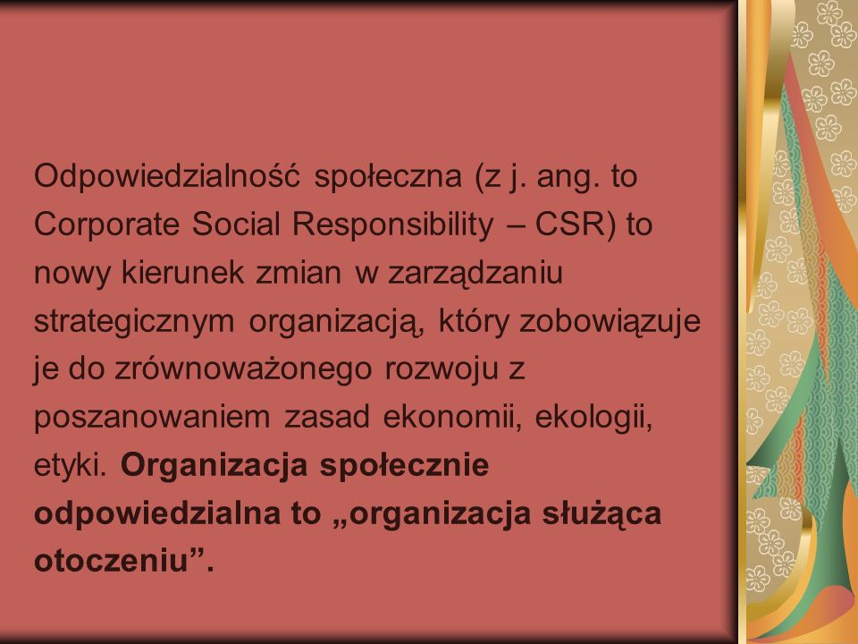 Odpowiedzialność społeczna (z j.ang.