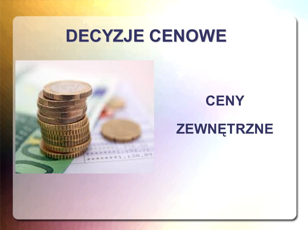 CENA Nazwa świadczenia kupującego w umowie sprzedaży: kwota pieniężna ustalona jako ekwiwalent nabywanej rzeczy.