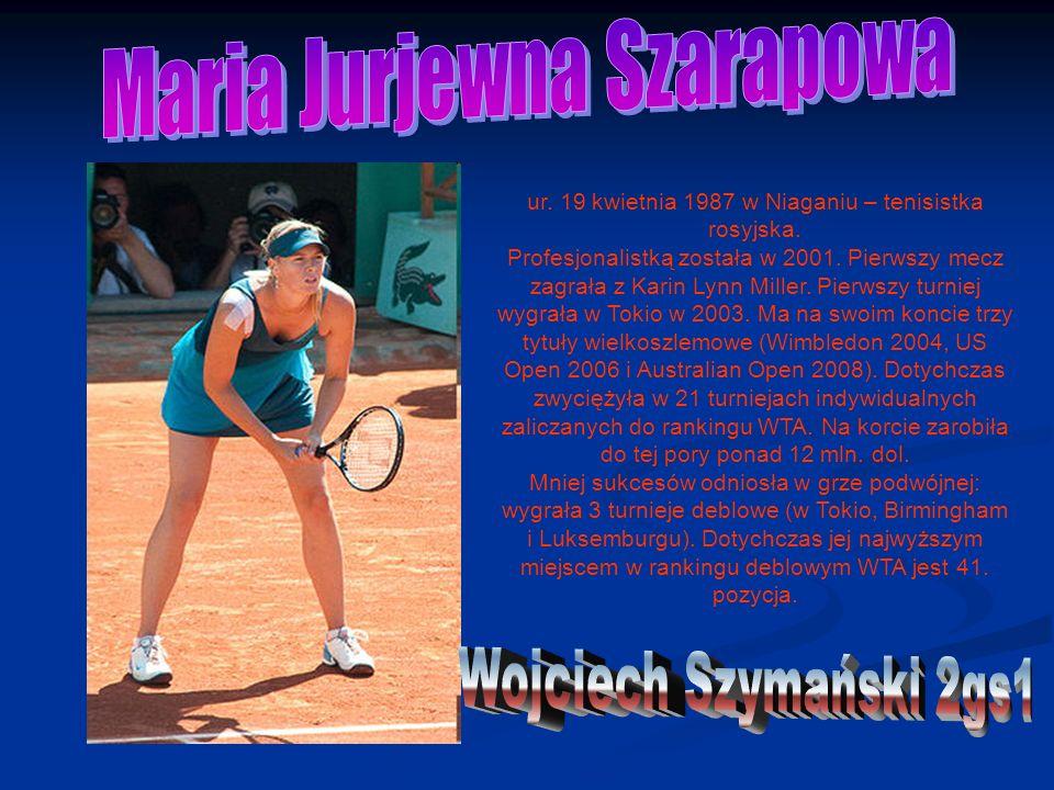 ur. 19 kwietnia 1987 w Niaganiu – tenisistka rosyjska.