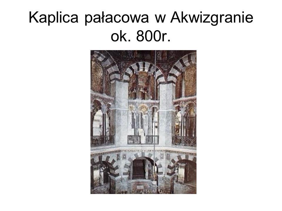 Kaplica pałacowa w Akwizgranie ok. 800r.