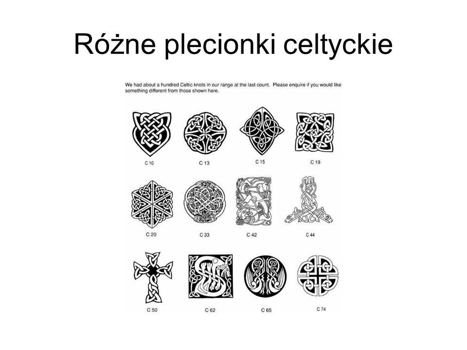 Różne plecionki celtyckie