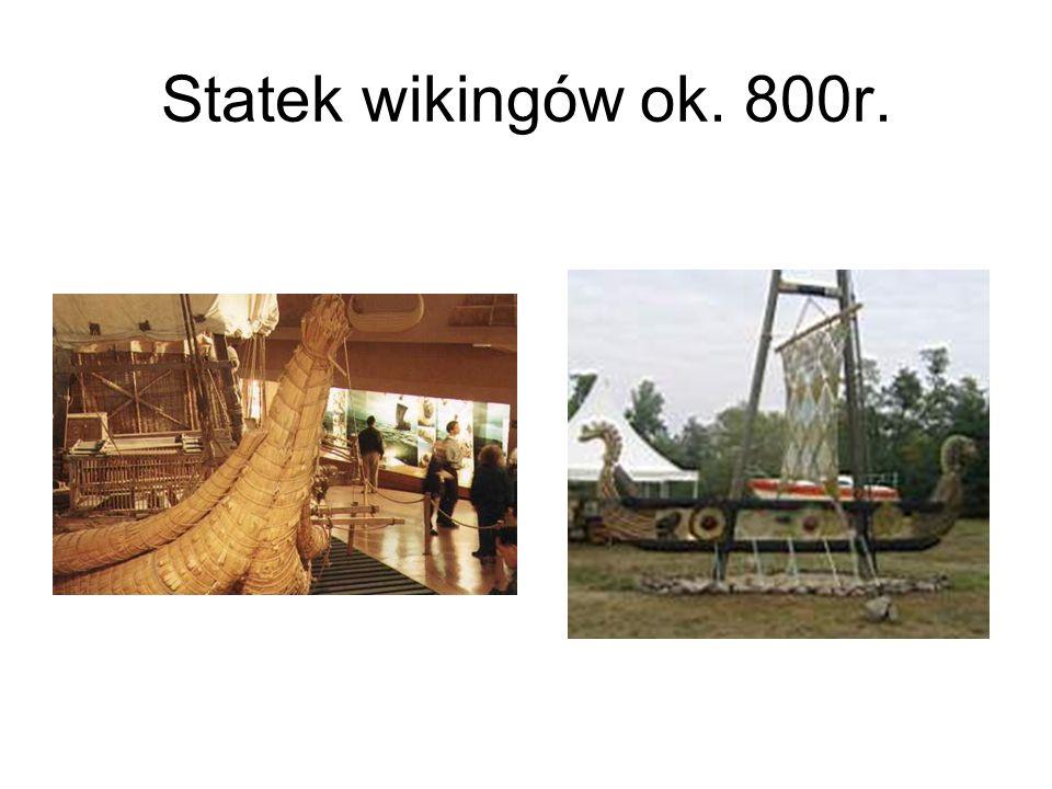 Statek wikingów ok. 800r.