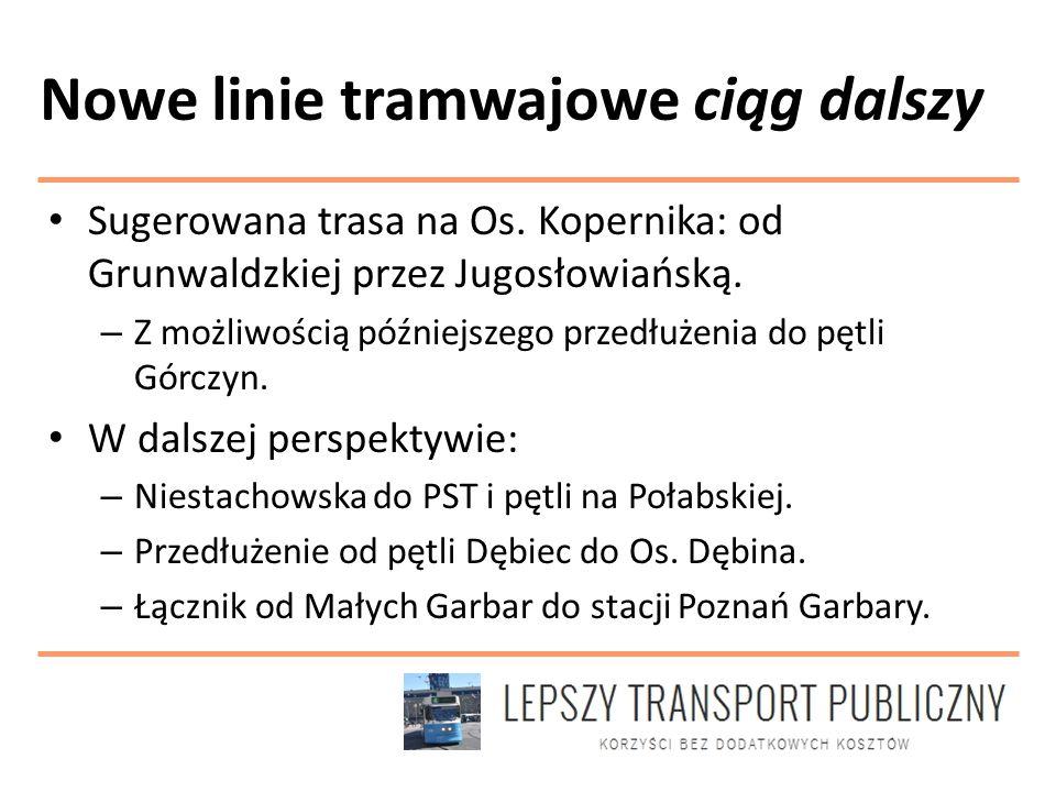 Nowe linie tramwajowe ciąg dalszy Sugerowana trasa na Os.