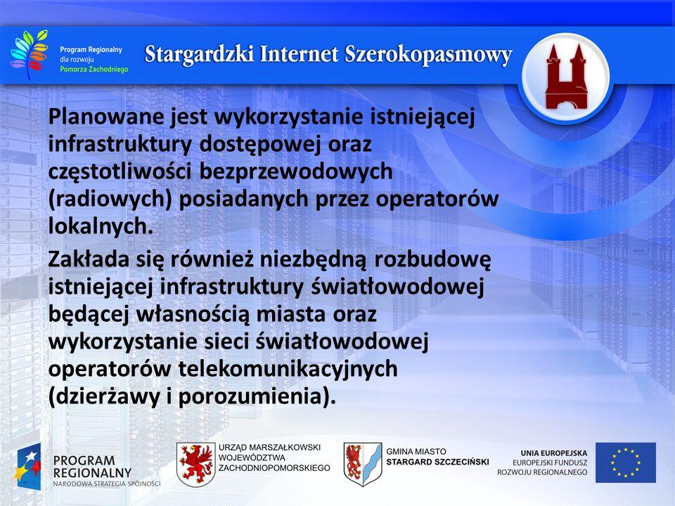 W studium wykonalności projektu określona została strategia budowy lokalnej sieci dostępowej, która będzie współpracowała z nadrzędną, regionalną szkieletową Zachodniopomorską Siecią Teletransmisyjną.