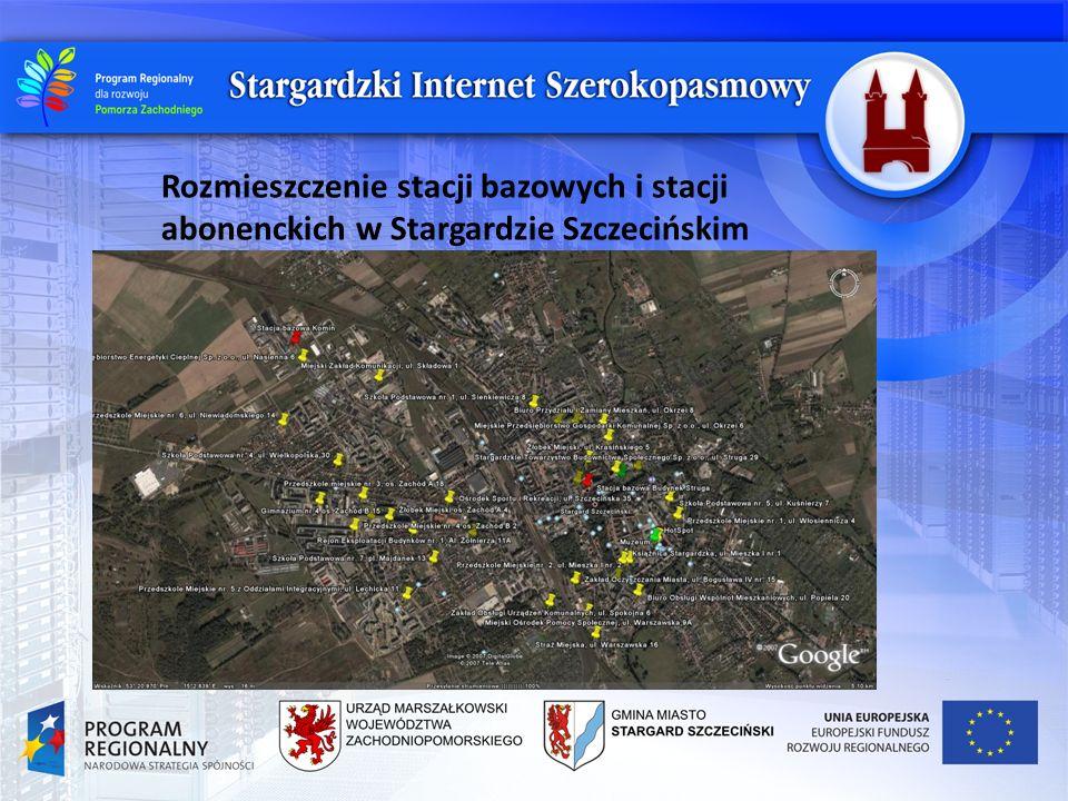 Przykładowa analiza stacji abonenckiej z wizji lokalnej : Stacja abonencka Żłobek Miejski, os.