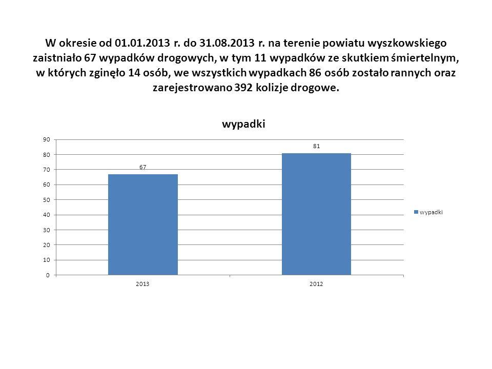 W okresie od 01.01.2013 r. do 31.08.2013 r.