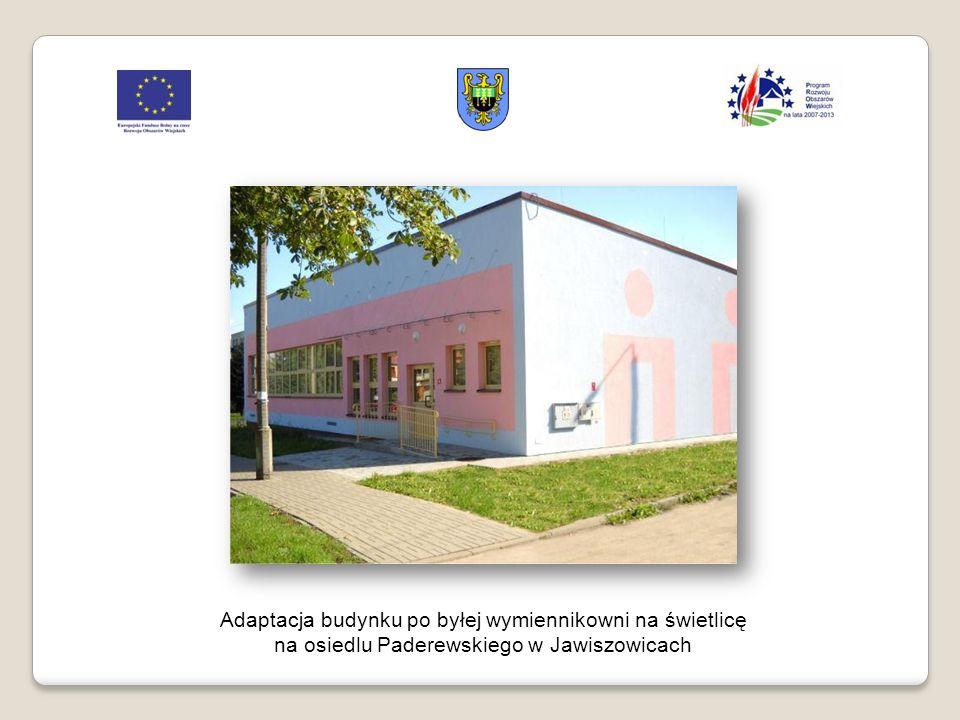 Adaptacja budynku po byłej wymiennikowni na świetlicę na osiedlu Paderewskiego w Jawiszowicach