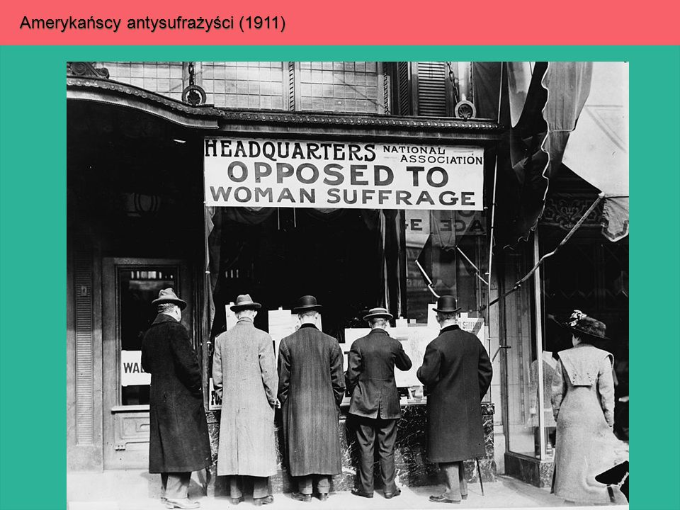 Amerykańscy antysufrażyści (1911)