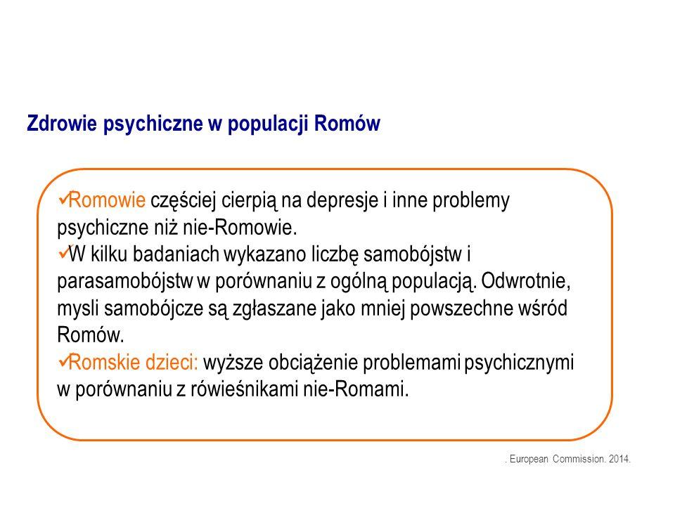 Romowie częściej cierpią na depresje i inne problemy psychiczne niż nie-Romowie.