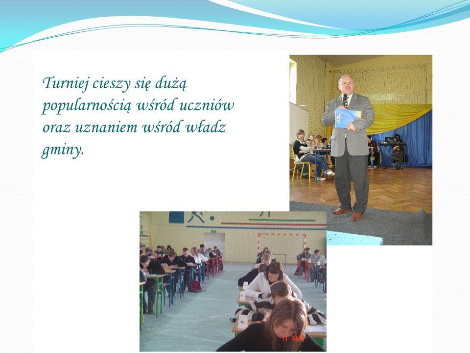 Turniej cieszy się dużą popularnością wśród uczniów oraz uznaniem wśród władz gminy.