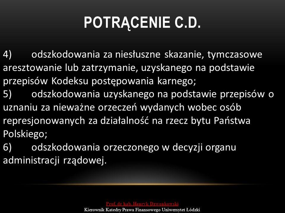 POTRĄCENIE C.D.