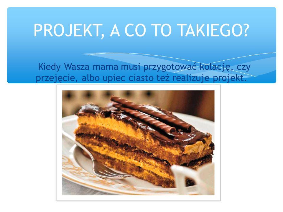 1.Zaplanowanie działań – przy pieczeniu ciasta podjęcie decyzji, jakie mamy ochotę zjeść.