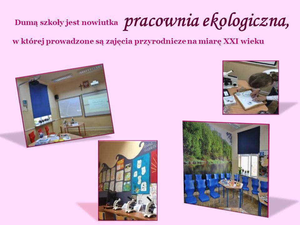 pracownia ekologiczna, Dumą szkoły jest nowiutka w której prowadzone są zajęcia przyrodnicze na miarę XXI wieku