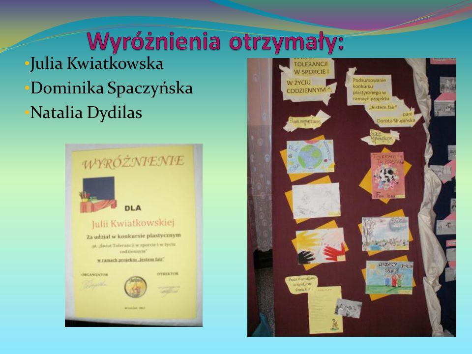 Julia Kwiatkowska Dominika Spaczyńska Natalia Dydilas