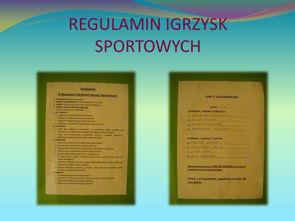 REGULAMIN IGRZYSK SPORTOWYCH