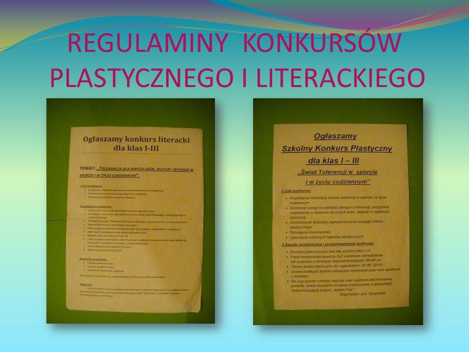 REGULAMINY KONKURSÓW PLASTYCZNEGO I LITERACKIEGO