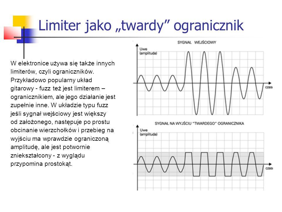 """Limiter jako """"twardy"""" ogranicznik W elektronice używa się także innych limiterów, czyli ograniczników. Przykładowo popularny układ gitarowy - fuzz też"""