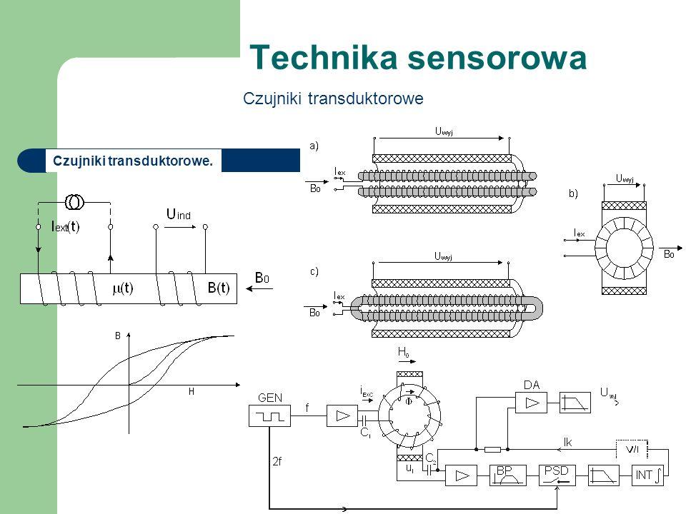 Technika sensorowa Czujniki transduktorowe (10.56) Czujniki transduktorowe.