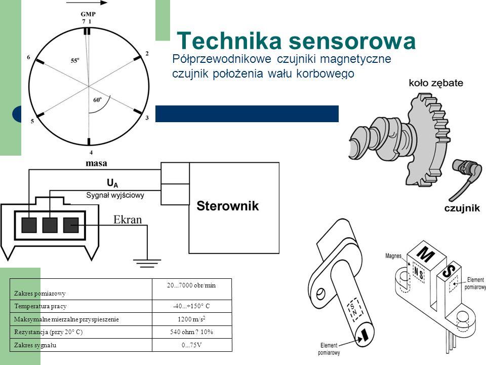 Technika sensorowa Półprzewodnikowe czujniki magnetyczne czujnik położenia wału korbowego 0...75VZakres sygnału 540 ohm .
