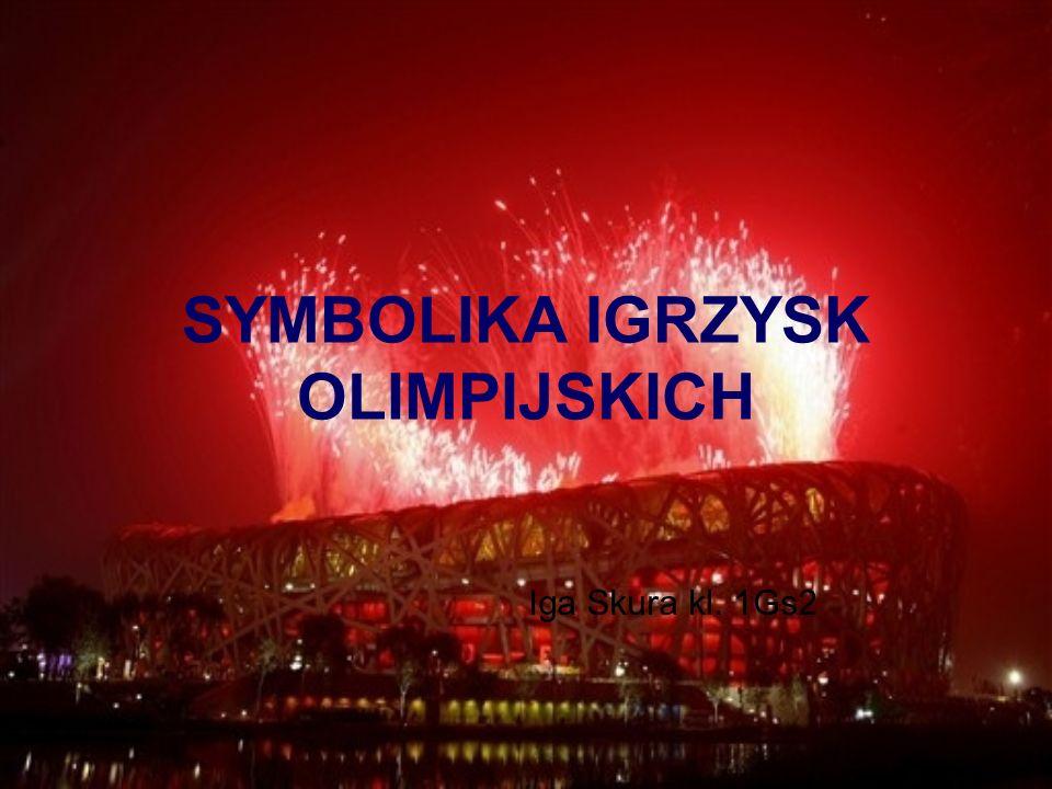 Symbole IO:  Flaga Olimpijska  Motto Olimpijskie  Znicz Olimpijski  Hymn Olimpijski  Ślubowanie Olimpijskie  Credo Olimpijskie  Maskotka Olimpijska