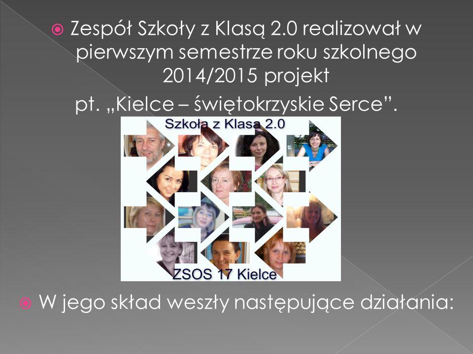  Zespół Szkoły z Klasą 2.0 realizował w pierwszym semestrze roku szkolnego 2014/2015 projekt pt.