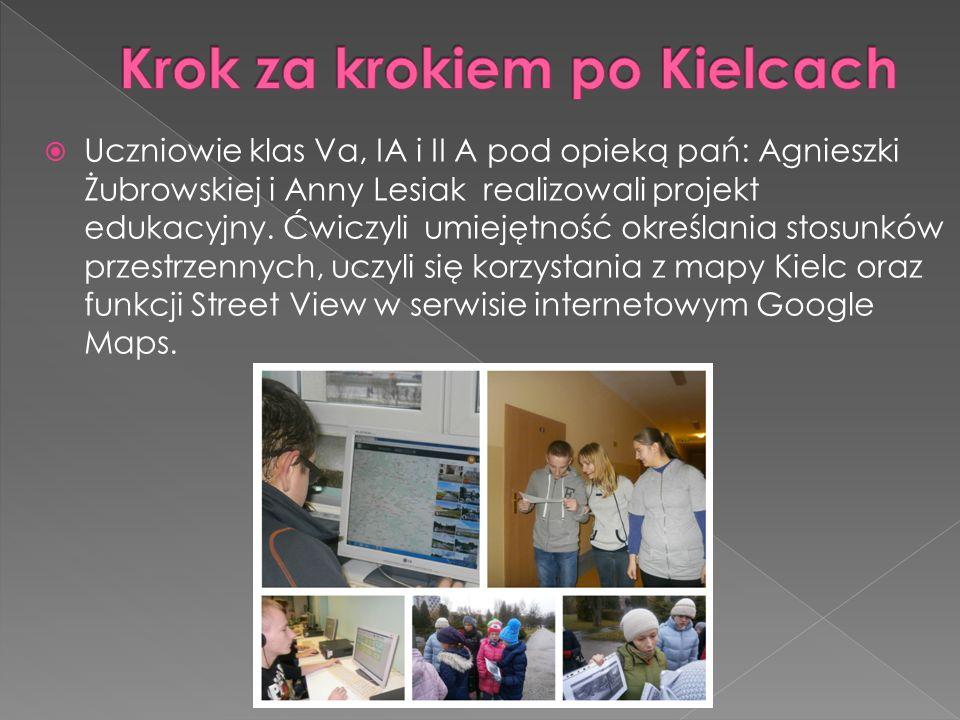  Uczniowie klasy II A pod opieką p.Ewy Włodarczyk szukali miejsc rozrywki w mieście.