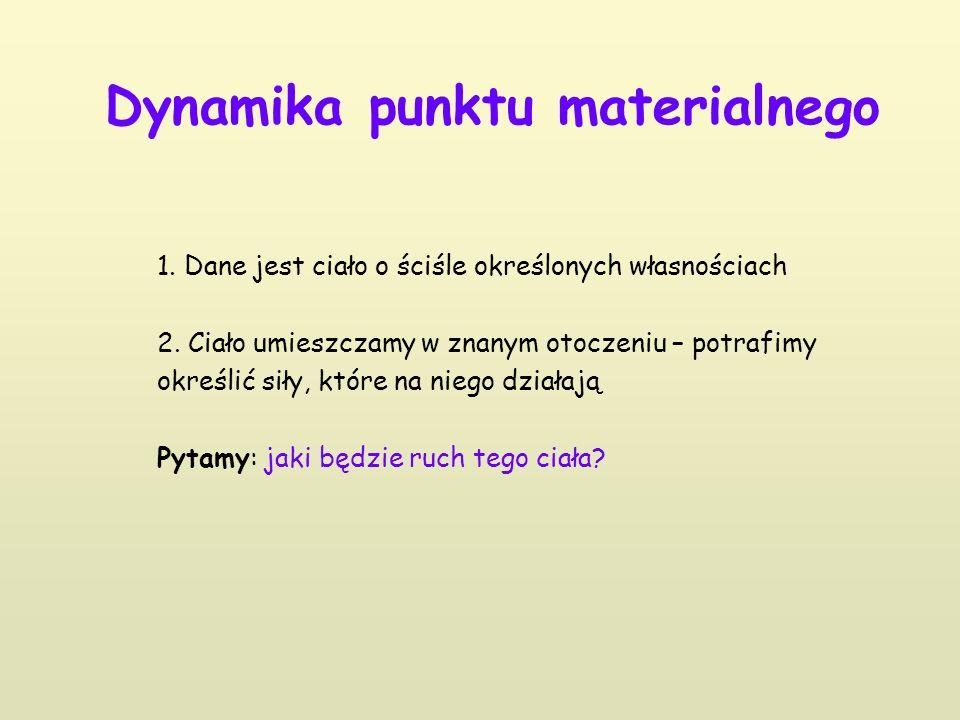 Dynamika punktu materialnego 1. Dane jest ciało o ściśle określonych własnościach 2.