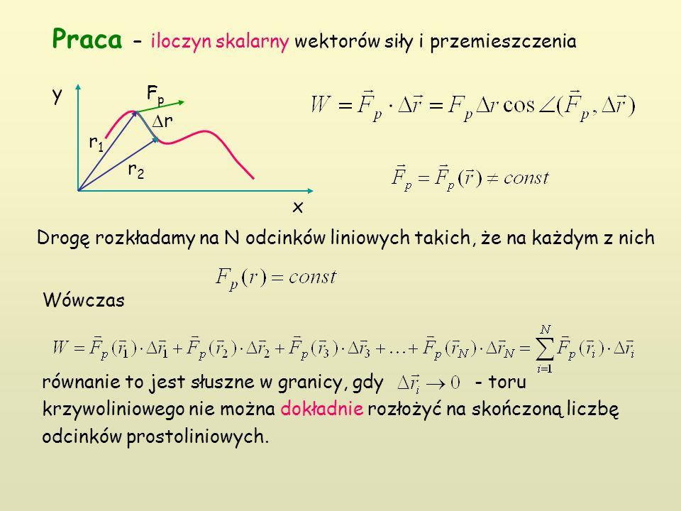 Wówczas równanie to jest słuszne w granicy, gdy - toru krzywoliniowego nie można dokładnie rozłożyć na skończoną liczbę odcinków prostoliniowych.