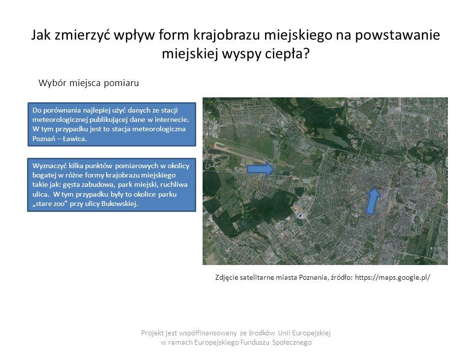 Jak zmierzyć wpływ form krajobrazu miejskiego na powstawanie miejskiej wyspy ciepła.