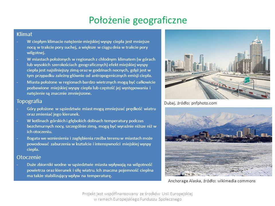Czas Projekt jest współfinansowany ze środków Unii Europejskiej w ramach Europejskiego Funduszu Społecznego Cykl dobowy i roczny miejskiej wyspy ciepła we Wrocławiu w latach 1997-2000 (Dubicki i in.