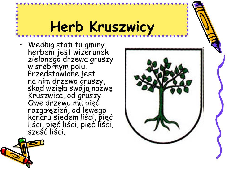Herb Kruszwicy Według statutu gminy herbem jest wizerunek zielonego drzewa gruszy w srebrnym polu.