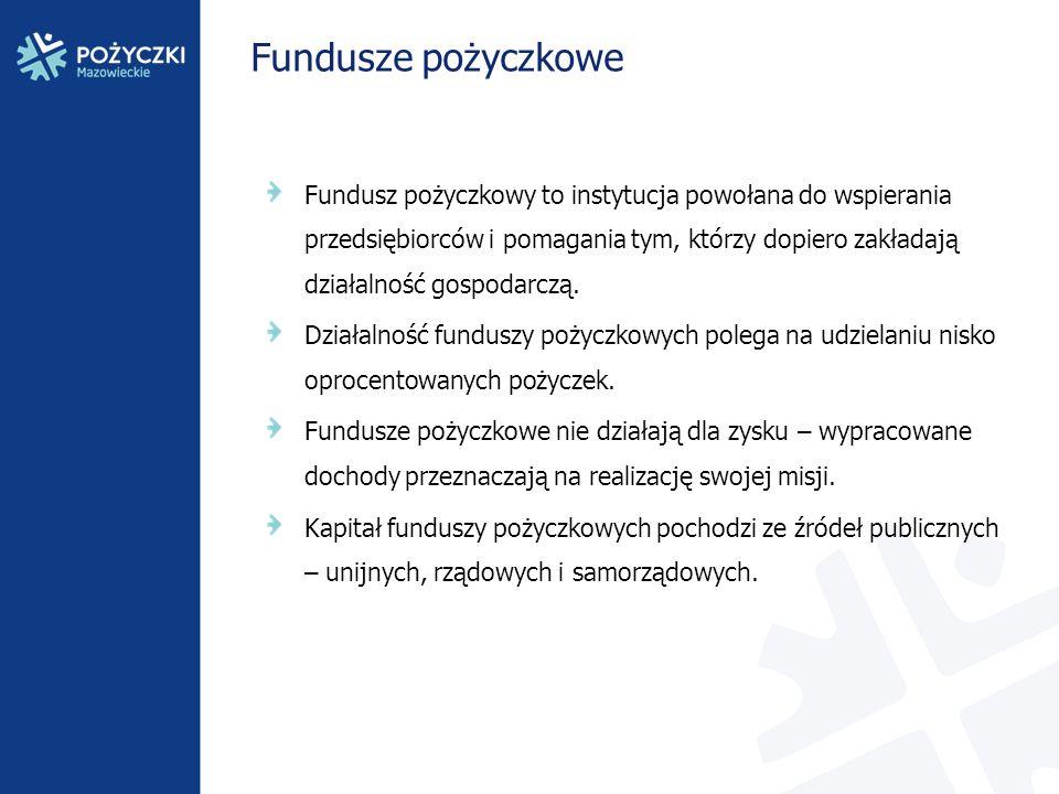 Fundusze pożyczkowe Fundusz pożyczkowy to instytucja powołana do wspierania przedsiębiorców i pomagania tym, którzy dopiero zakładają działalność gosp