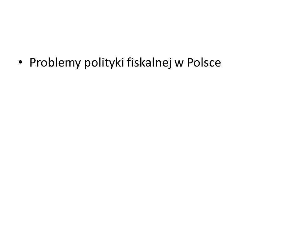 Problemy polityki fiskalnej w Polsce
