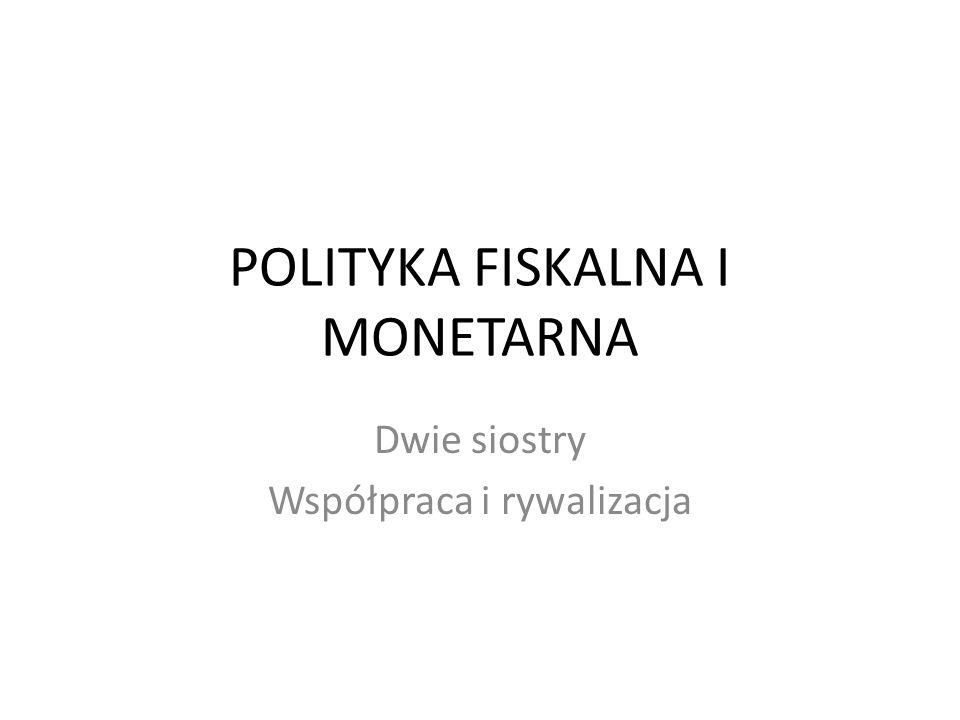 POLITYKA FISKALNA I MONETARNA Dwie siostry Współpraca i rywalizacja