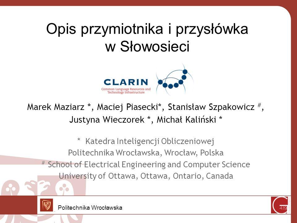 Przymiotnik w Słowosieci Politechnika Wrocławska