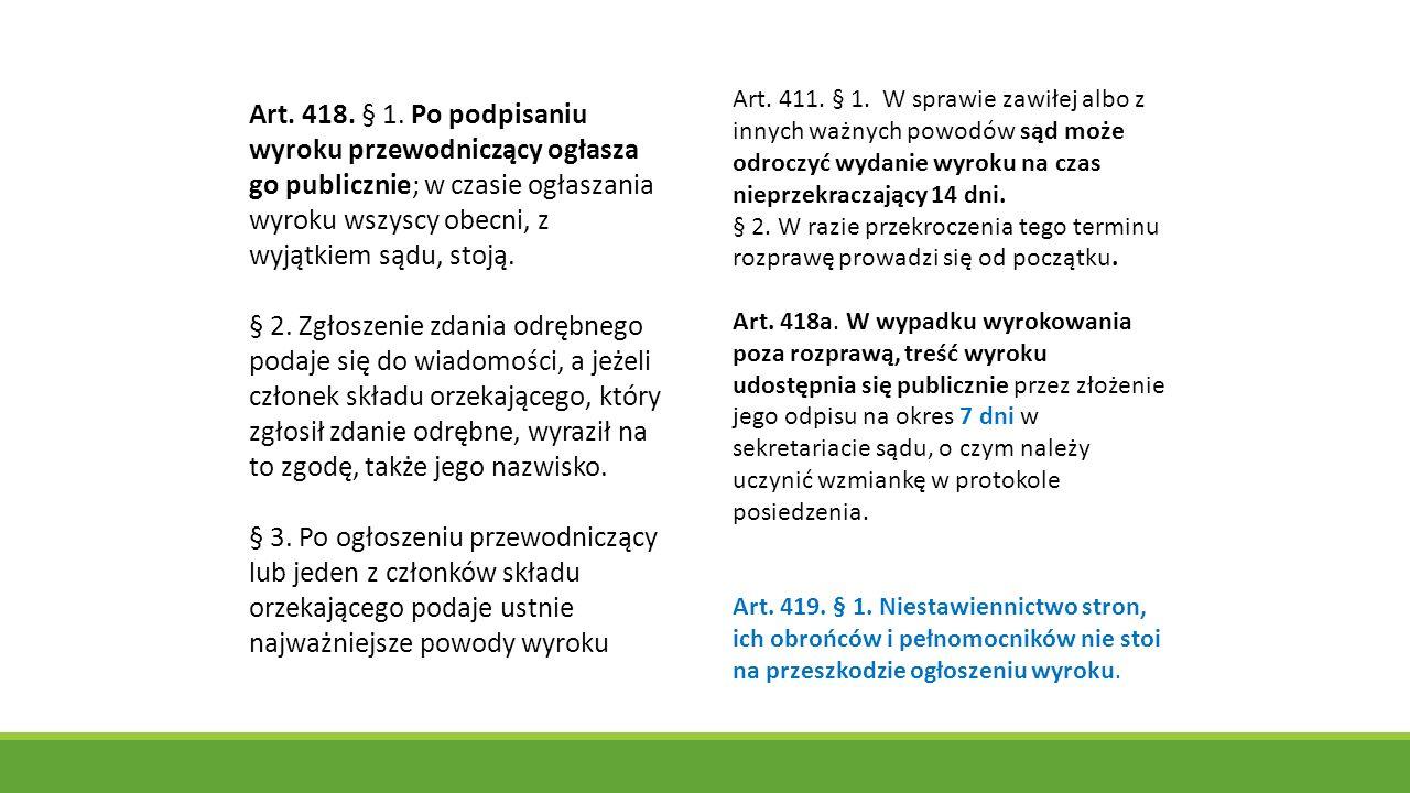 Art.418. § 1.