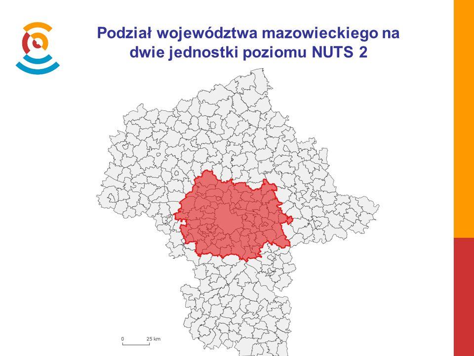 Podział województwa mazowieckiego na dwie jednostki poziomu NUTS 2