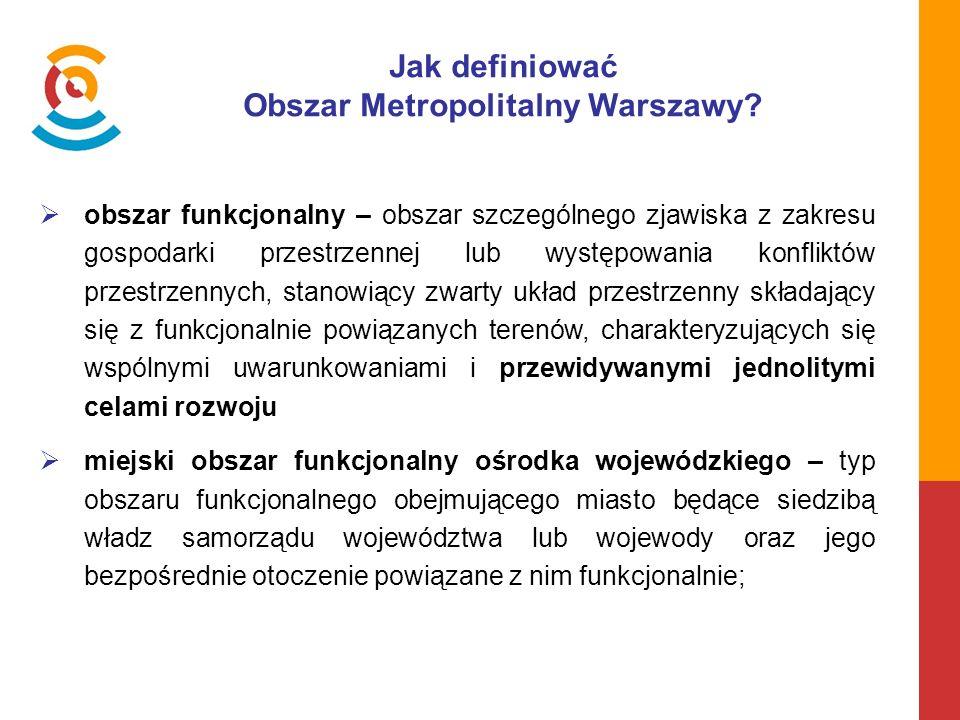 Jak definiować Obszar Metropolitalny Warszawy.