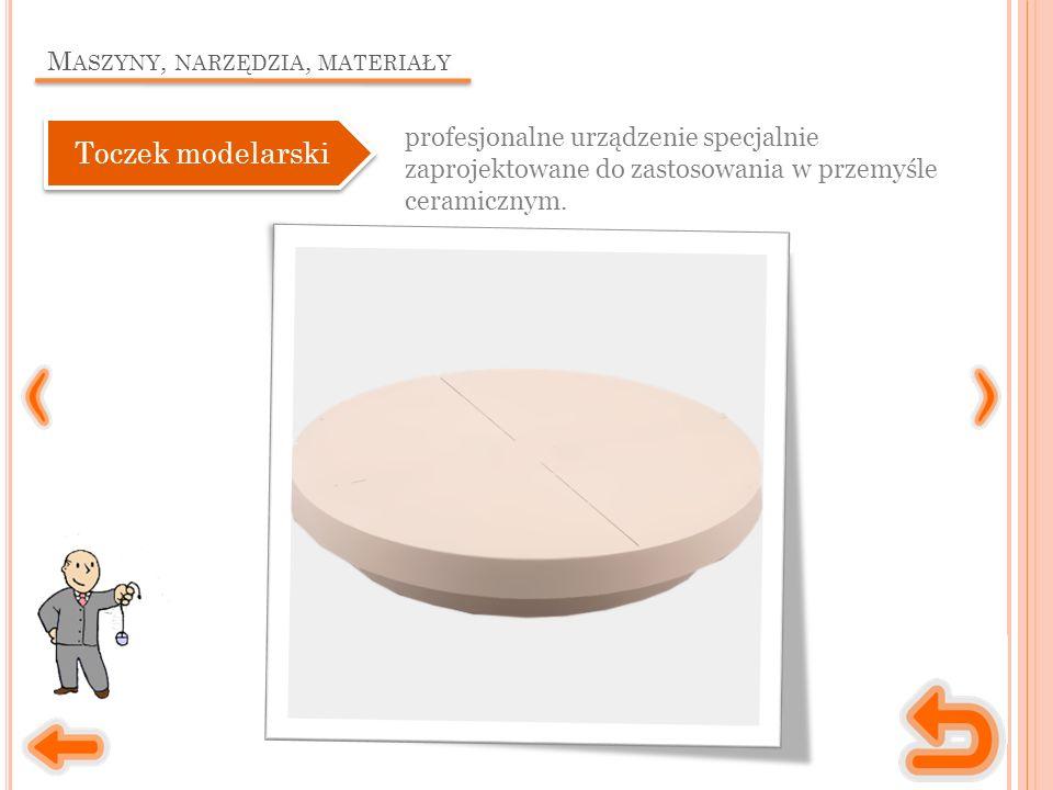 M ASZYNY, NARZĘDZIA, MATERIAŁY profesjonalne urządzenie specjalnie zaprojektowane do zastosowania w przemyśle ceramicznym. Toczek modelarski