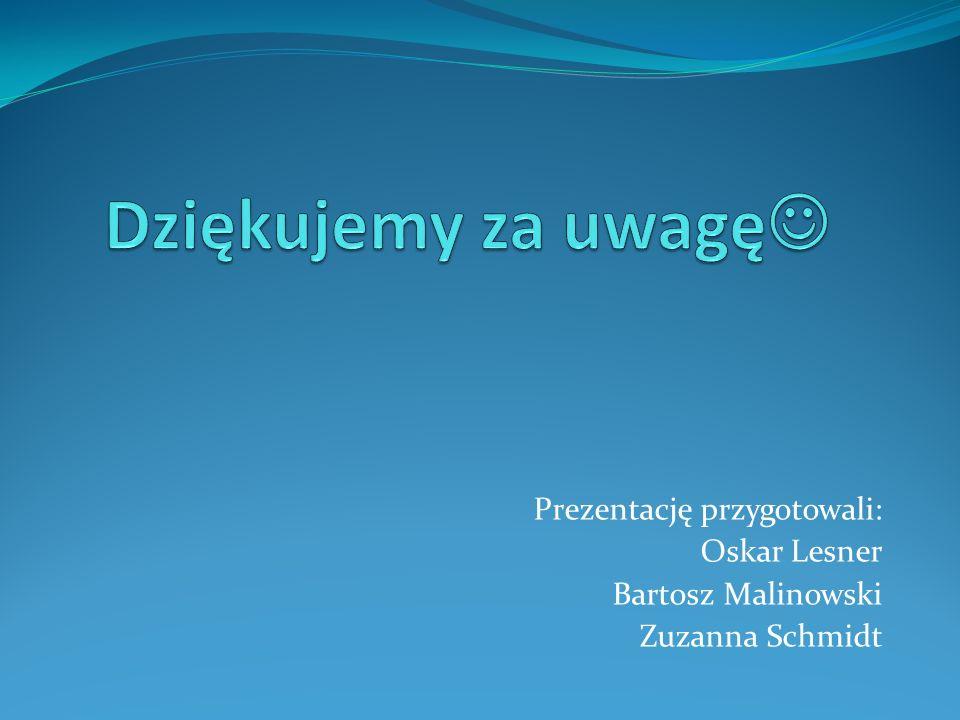 Prezentację przygotowali: Oskar Lesner Bartosz Malinowski Zuzanna Schmidt