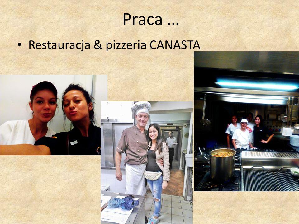 Praca … Restauracja & pizzeria CANASTA