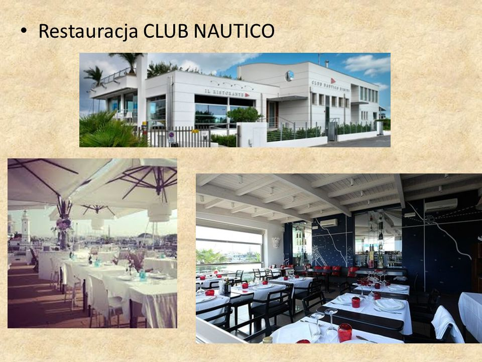 Restauracja CLUB NAUTICO