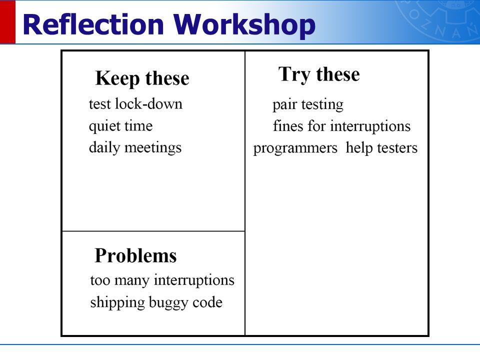 Reflection Workshop