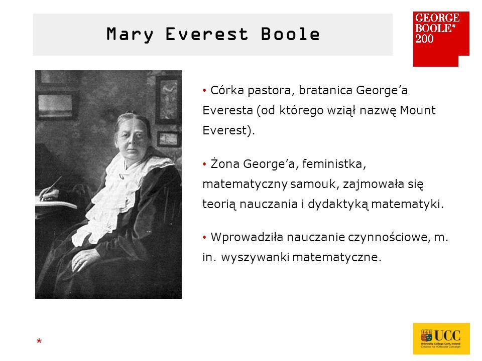 * Córka pastora, bratanica George'a Everesta (od którego wziął nazwę Mount Everest).