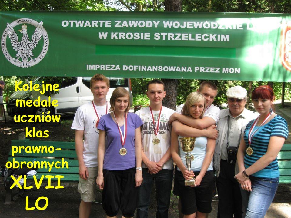 Kolejne medale uczniów klas prawno- obronnych XLVII LO