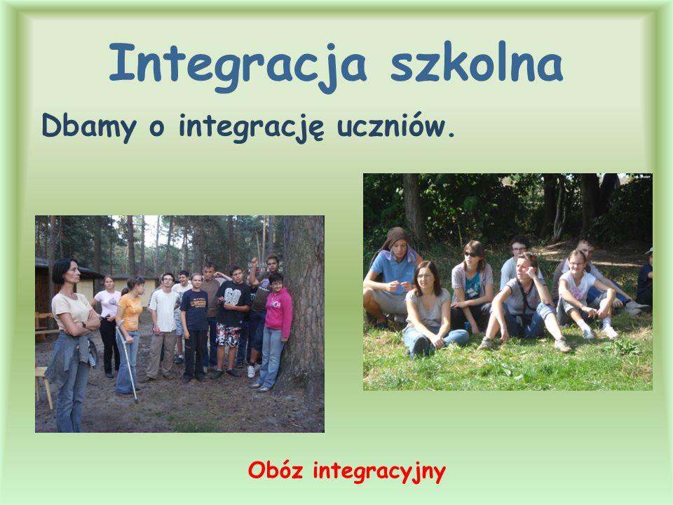 Integracja szkolna Dbamy o integrację uczniów. Obóz integracyjny
