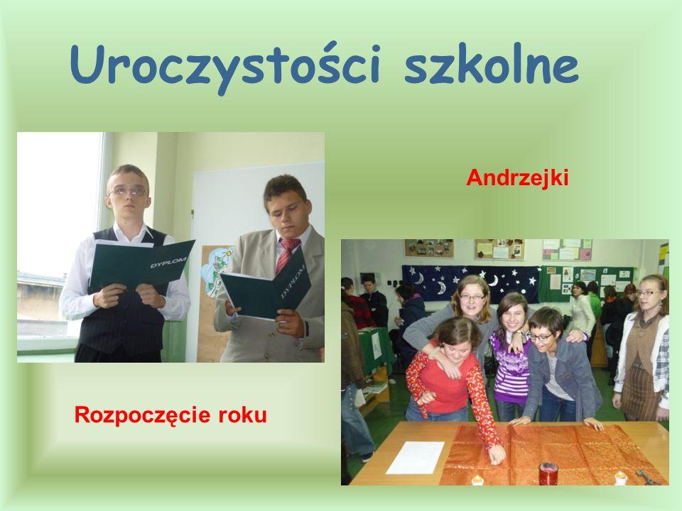 Rozpoczęcie roku Andrzejki Uroczystości szkolne
