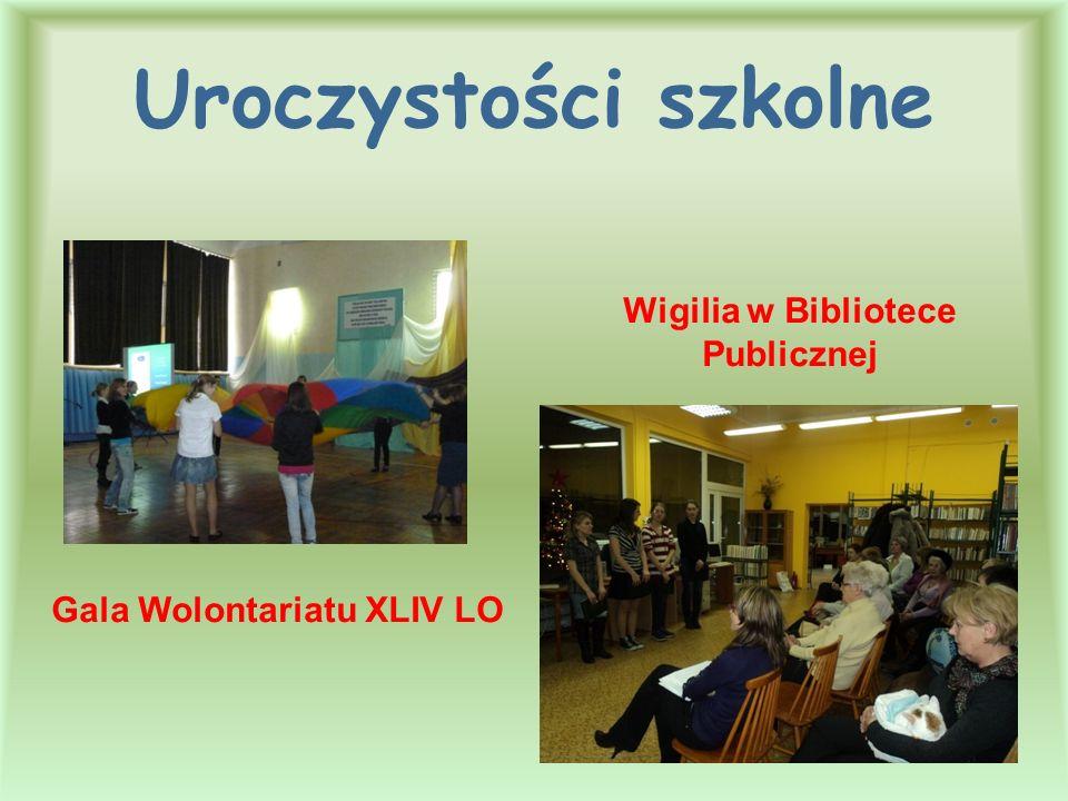 Gala Wolontariatu XLIV LO Wigilia w Bibliotece Publicznej